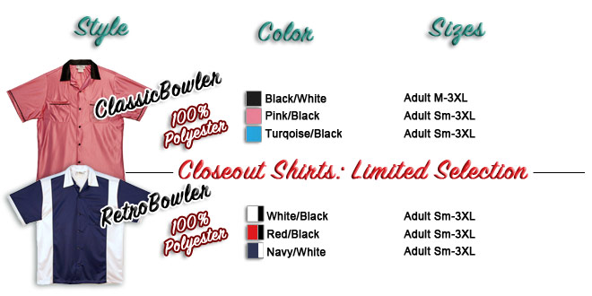 Bowlingshirt.com shirt selection