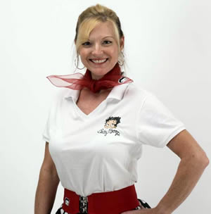 Vintage & Retro Shirts, Halter Tops, Blouses Betty Boop Fitted Top White $29.95 AT vintagedancer.com