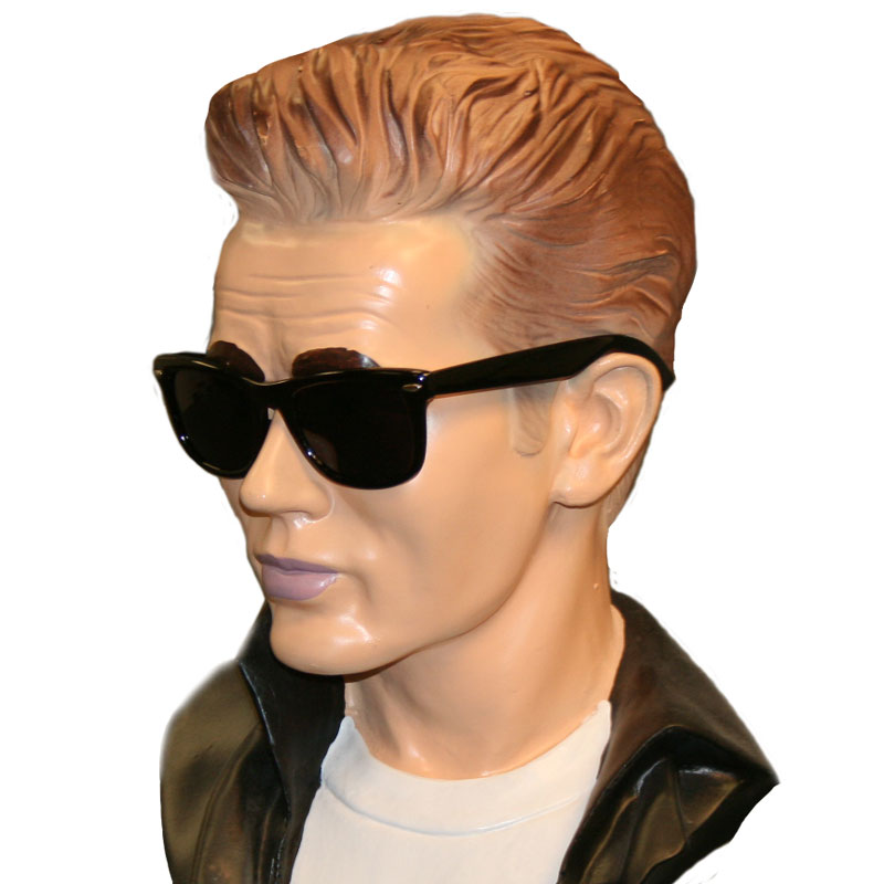 1950s Men's Clothing Black Wayfarer Glasses $4.95 AT vintagedancer.com