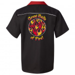 Great Balls of Fire Stock Print on Swing Master 2.0 Bowling Shirt