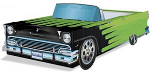 Ford Fairlane:  Greeen Cardboard Cutout