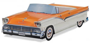 '56 Ford Fairlane Sunliner (Orange/White)