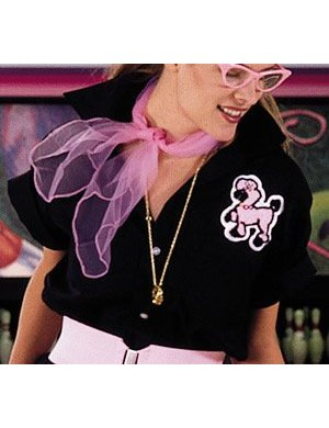 1950s Costumes- Poodle Skirts, Grease, Monroe, Pin Up, I Love Lucy Adult Poodle Blouses (Black) $29.95 AT vintagedancer.com