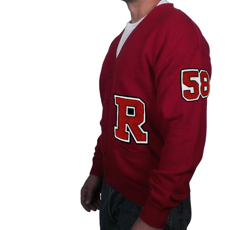 50s Costumes | 50s Halloween Costumes Varsity Letter Sweater w/ Chenille Number & Letter $69.95 AT vintagedancer.com