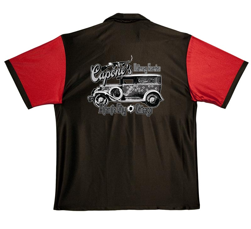 Capones Delivery Service On Retro Bowling Shirts
