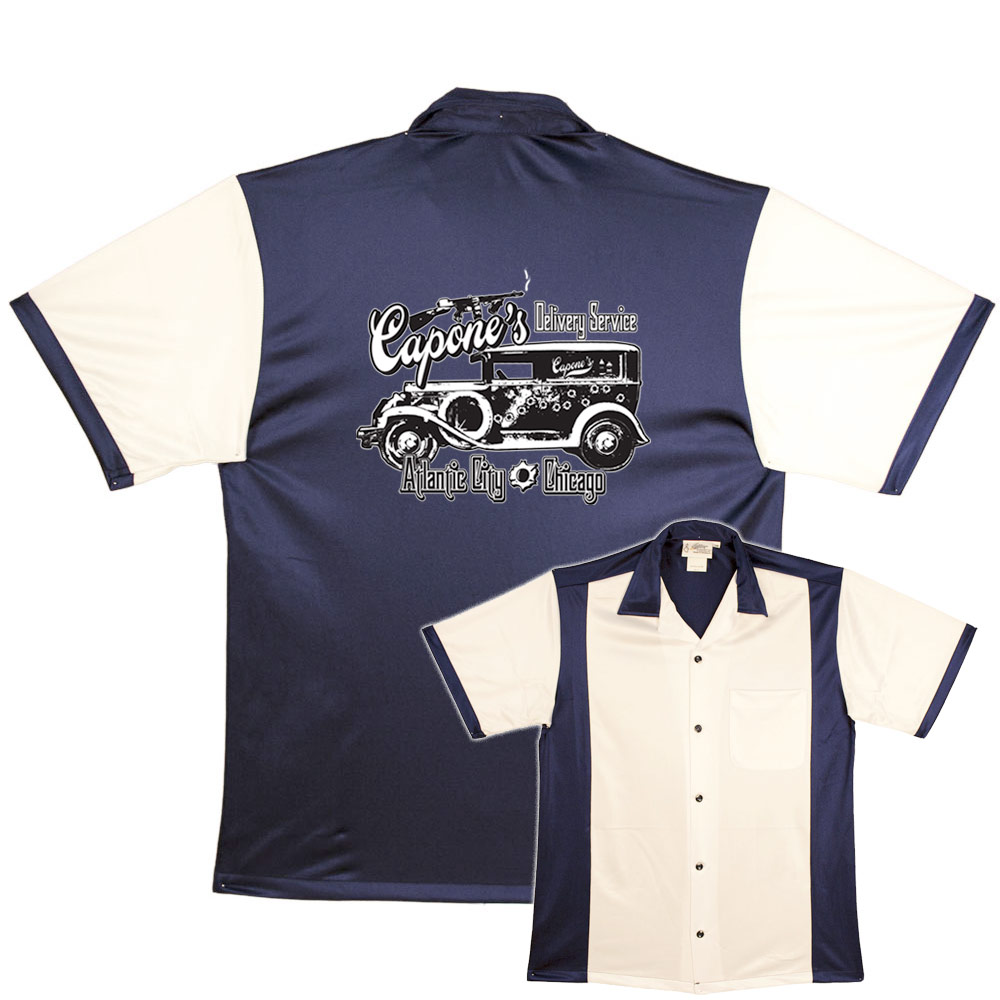 Bowlingshirt Capones Delivery Service On Retro Bowling Shirts