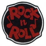 Rock N Roll Circle Chenille Patch
