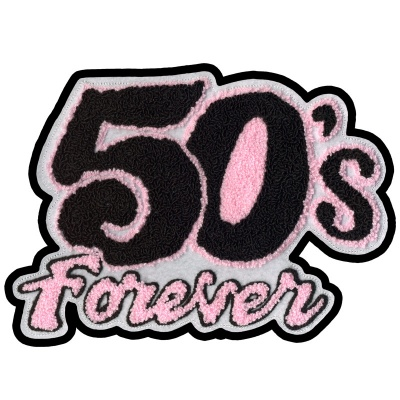 50's Forever Chenille Patch - Pink