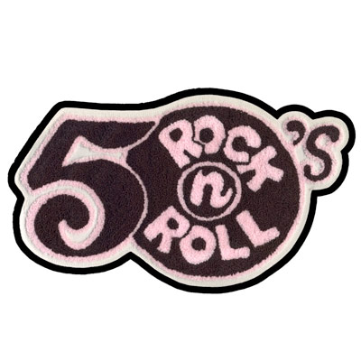 50's rock n' roll: chenille patch - Pink