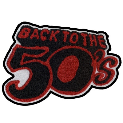 Back to the 50's:  Chenille Patch - Red