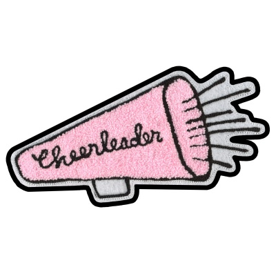 Cheerleader Megaphone Chenille Patch