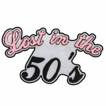 Lost in the Fifties Script Chenille Patch