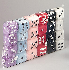 Fuzzy Dice:  Multi-pack, assorted colors