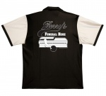Berry's Funeral Home Stock Print on Retro Bowler