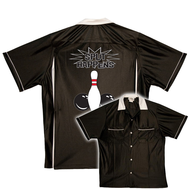 Humorous bowling shirts - Black/white