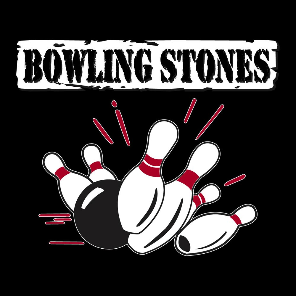bowling stones graphic heavy cotton t shirt