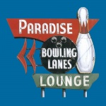Paradise Lanes Graphic Heavy Cotton T-Shirt