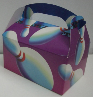 Bowling party cardboard gift boxes