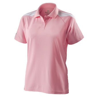 Women's Pink/White Holloway Frequency Dry-Excel Performance Bowling Shirt