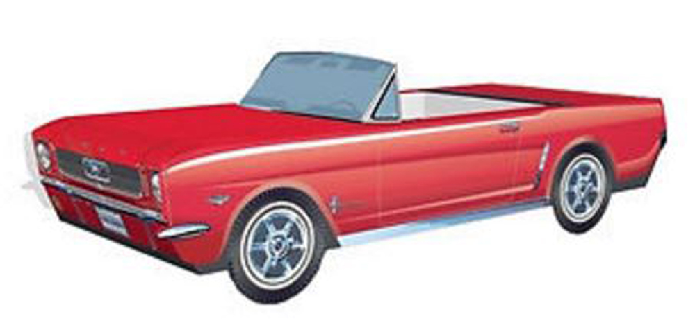 Classic Red Mustang:  Cardboard Car Party Item