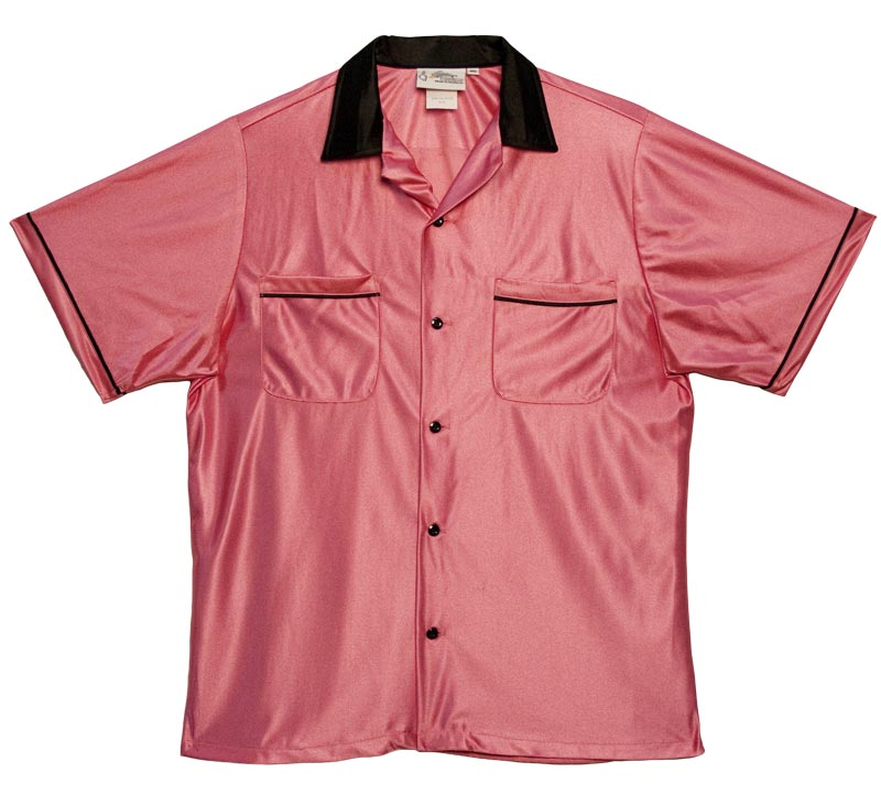 Classic Bowling Shirt: Pink and Black