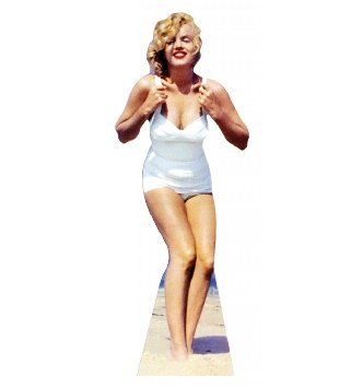 Marilyn Monroe Standup (White Swimsuit)