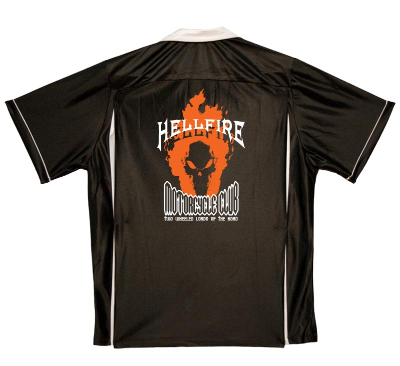 Hellfire Motorcycle Club Stock Print on Classic Bowler