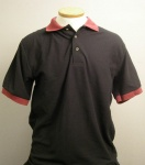 Closeout Black and Maroon Polo Shirt