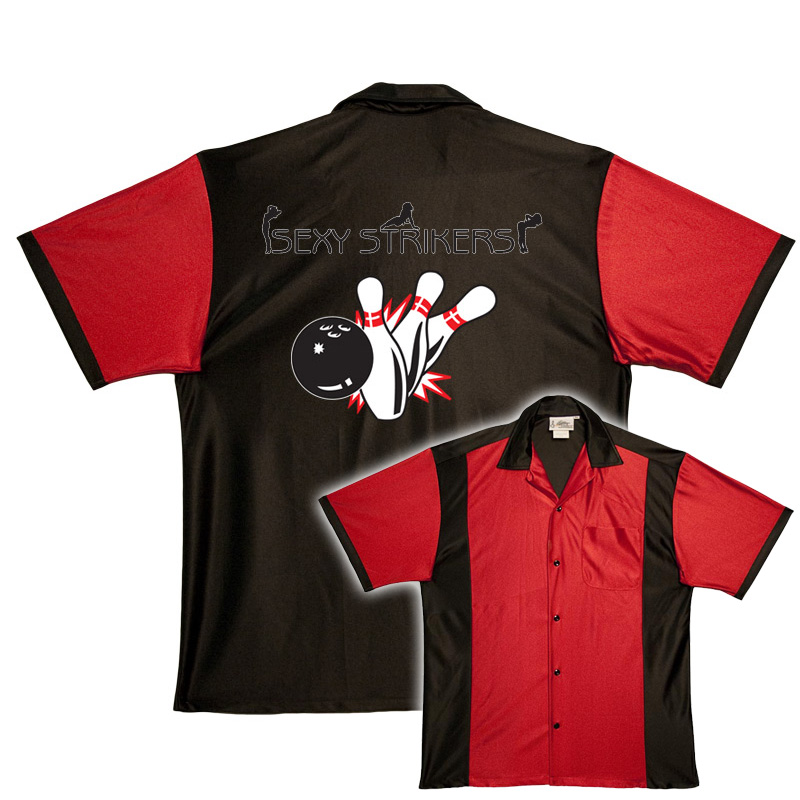 Sexy strikers stock print on retro bowler ebay for Banded bottom shirts canada