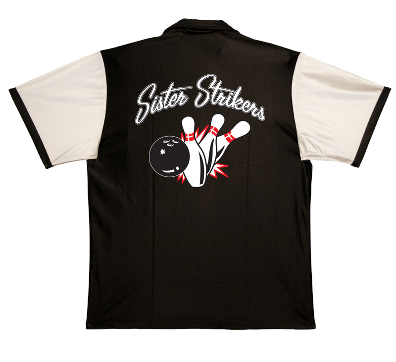 Sister Strikers Stock Print on Retro Bowler