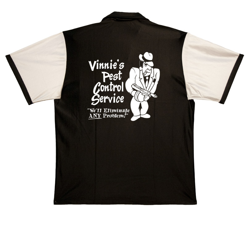 Vinnie's Pest Control Stock Print on Retro Bowler