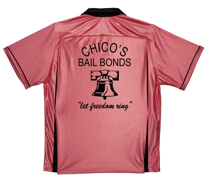 Chicos Bail Bonds Stock Print on Classic Bowler