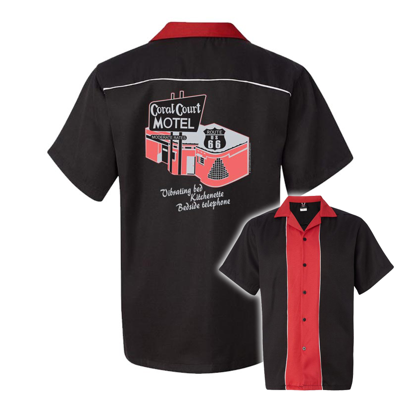 Coral Court Motel on 50s Style Bowling Shirts $34.95 AT vintagedancer.com