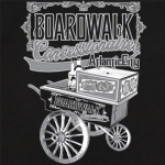 Boardwalk Concessionaire Stock Print on 50's Style Bowling Shirts