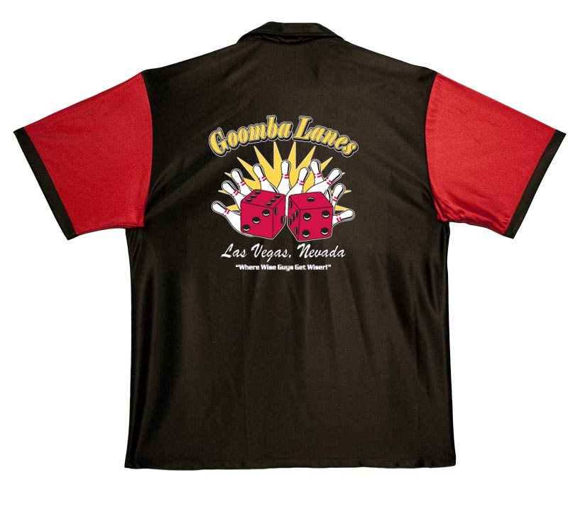 Goomba Lanes Stock Print on 50's Style Bowling Shirts