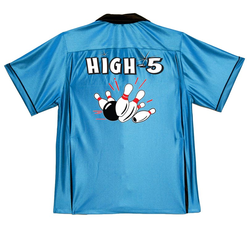 High 5 Stock Print on 50's Style Bowling Shirts