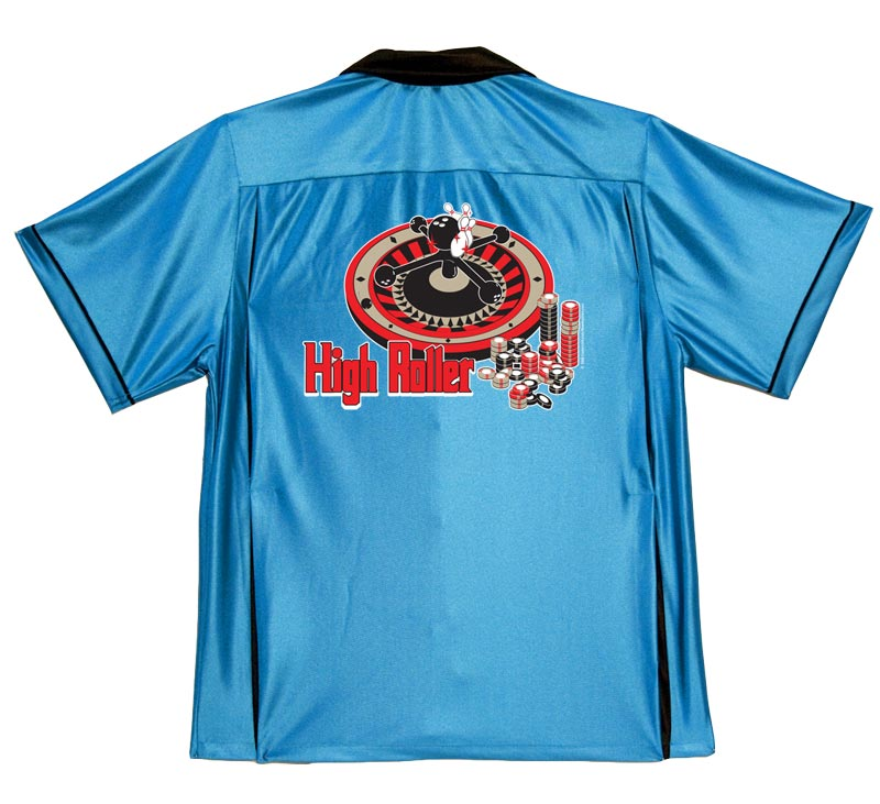 High Roller Stock Print on 50's Style Bowling Shirts