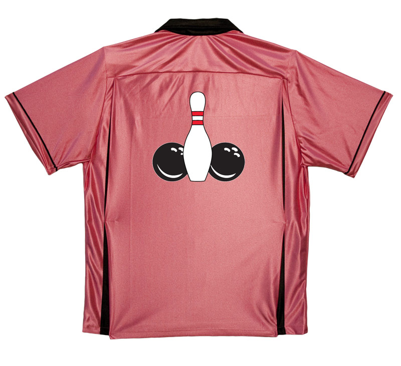 Image of 2 Balls and a Pin Stock Print on 50's Style Bowling Shirts