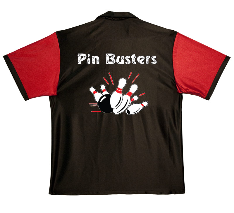 Pin Busters Stock Print on 50's Style Bowling Shirts