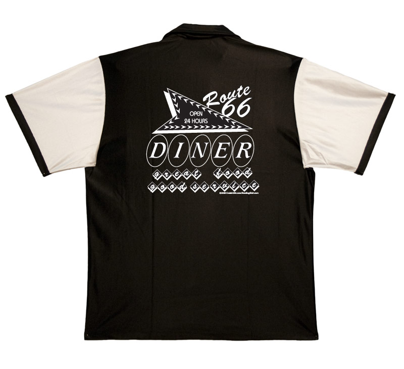 Route 66 Diner Stock Print on Retro Bowler