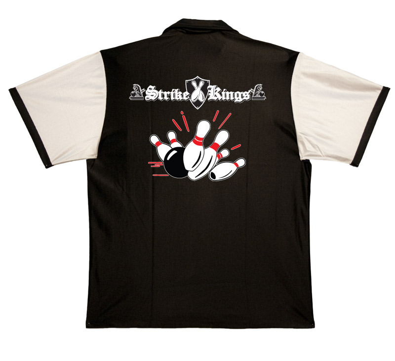Strike Kings Stock Print on Retro Bowler