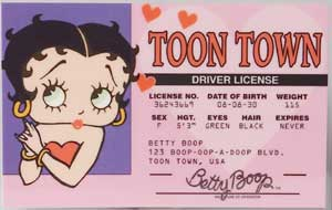 Betty Boop Driver's License