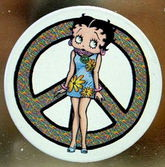 Betty Boop Peace Sign Magnet