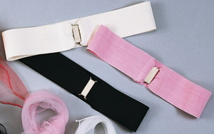 cinch belts:  pink, white, black