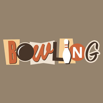 Bowling Retro Graphic Heavy Cotton T-Shirt