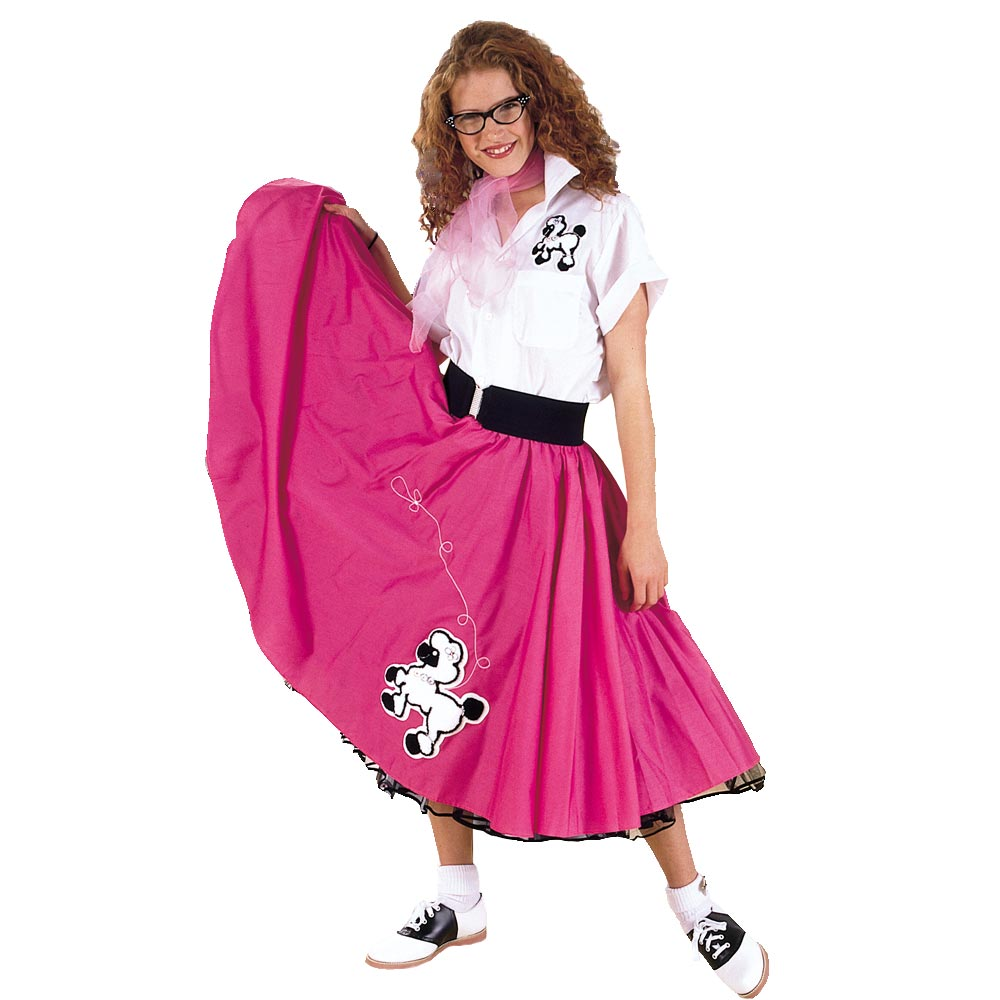 Adult Pink Complete Poodle Outfit