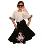 Youth Black Complete Poodle Skirt Outfit