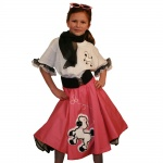 Youth Pink Complete Poodle Skirt Outfit