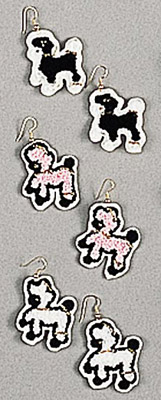 Chenille Poodle Earrings