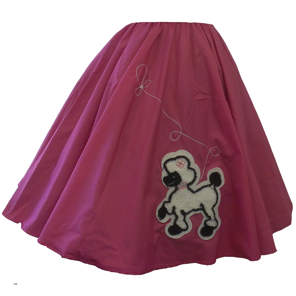 - Pink Skirt w/ White Poodle